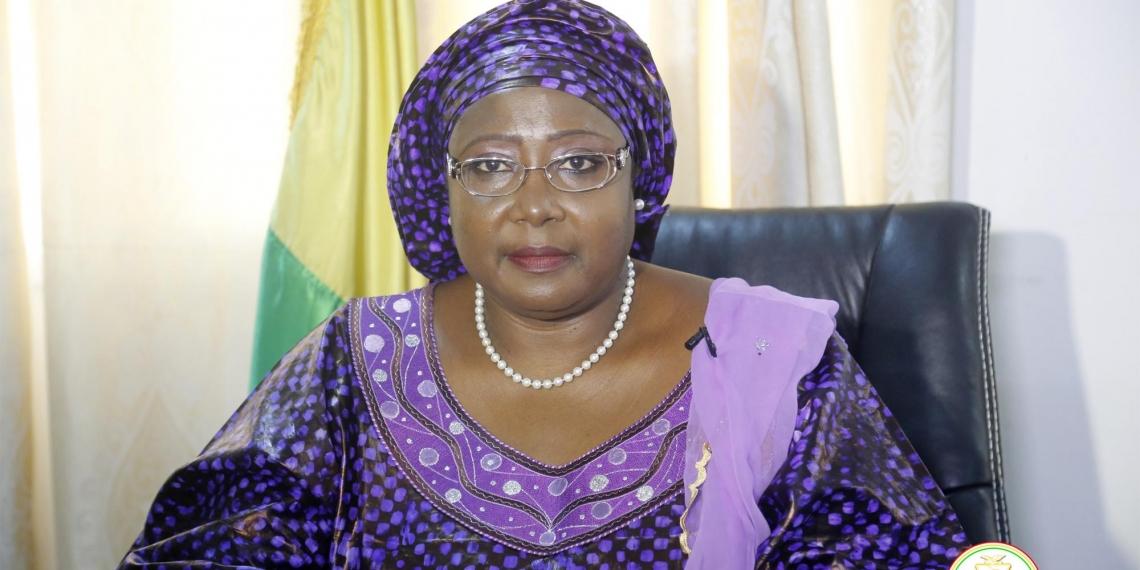 Mariama SYLLA Ministre guinéenne des affaires sociales, de la promotion féminine et de l'enfance. Crédit Photo-CCG.